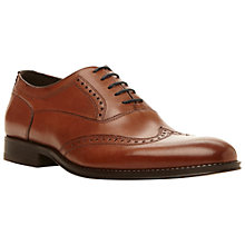 Buy Dune Rhodesy Wingtip Shoes, Tan Online at johnlewis.com