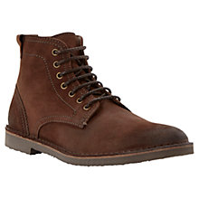 Buy Bertie Cigar Leather Lace Up Boots, Brown Online at johnlewis.com
