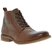 Buy Bertie Cadet Leather Lace-Up Boot, Tan Online at johnlewis.com