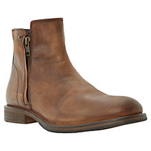 Buy Bertie Double Zip Leather Campus Boot, Tan Online at johnlewis.com