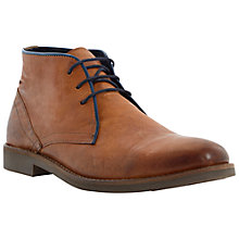 Buy Dune Cactus Leather Desert Boots, Tan Online at johnlewis.com