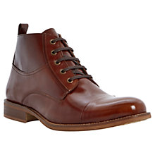 Buy Bertie Cadet Leather Lace-Up Boots, Brown Online at johnlewis.com
