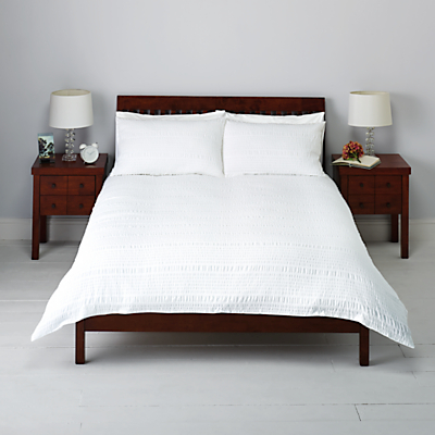 John Lewis Kate Seersucker Duvet Cover and Pillowcase Set