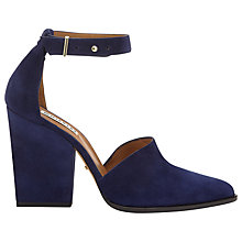 Buy Whistles Poppy Suede Two Part Block Heels, Navy Online at johnlewis.com
