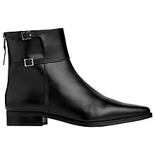 Buy L.K. Bennett Betsy Leather Ankle Boots, Black Online at johnlewis.com