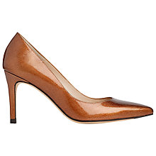 Buy L.K. Bennett Floret Patent Leather Court Shoes, Bronze Online at johnlewis.com