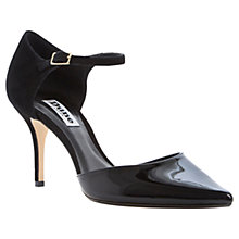 Buy Dune Claudia Patent Court Shoes, Black Online at johnlewis.com