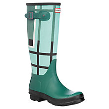 Buy Hunter Original Tartan Wellington Boots, Green Online at johnlewis.com