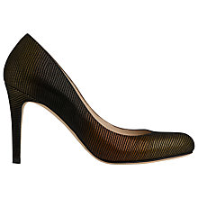 Buy L.K Bennett Stila Metallic Leather Court Shoes, Bronze Online at johnlewis.com