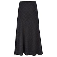 Buy Viyella Check Gauze Bias Cut Skirt, Navy Online at johnlewis.com