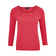 Buy Viyella Petite Lattice Trim Top, Geranium Online at johnlewis.com