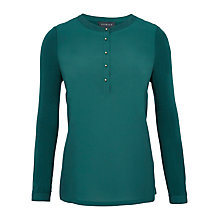 Buy Viyella Woven Front Jersey Shirt, Peacock Online at johnlewis.com