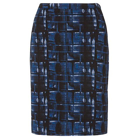 Buy Jigsaw Check Print Pencil Skirt, Multi Online at johnlewis.com