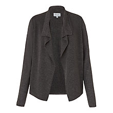 Buy Jigsaw Rib Trim Short Cardigan, Mel Grey Online at johnlewis.com