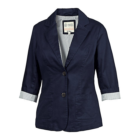Buy Fat Face Fitted Blazer, Navy Online at johnlewis.com