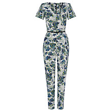 Buy Warehouse Leafy Floral Print Jumpsuit, Multi Online at johnlewis.com