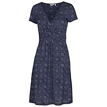 Buy Fat Face Camille Baroque Tile Print Wrap Dress, Navy Online at johnlewis.com