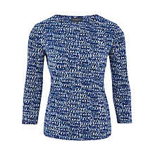 Buy Viyella Speckled Spot Print Jersey Top, Peacock Online at johnlewis.com