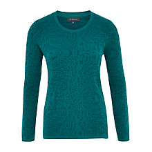 Buy Viyella Jacquard Jumper, Kingfisher Online at johnlewis.com