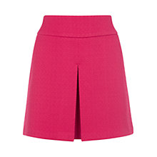 Buy Warehouse Formed Jacquard Pleat Skirt, Bright Red Online at johnlewis.com