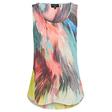 Buy Warehouse Silk Feather Print Vest, Multi Online at johnlewis.com