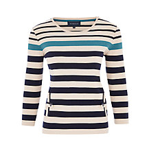 Buy Viyella Vertical Pocket Striped Top, Dark Denim Online at johnlewis.com
