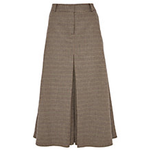 Buy Viyella Puppytooth Fit and Flare Skirt, Brown Online at johnlewis.com