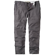 Buy Fat Face Tapered Linen-mix Chinos, Charcoal Online at johnlewis.com