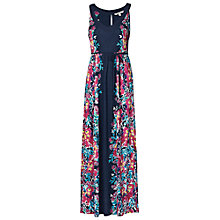 Buy Fat Face Mia Mirror Floral Maxi Dress, Navy Online at johnlewis.com