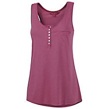 Buy Fat Face Oriel Henley Tank Top, Bordeaux Online at johnlewis.com