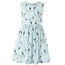 Buy John Lewis Girl Lace Bird Dress, Aqua Online at johnlewis.com