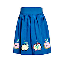 Buy John Lewis Girl Appliqué Apple Skirt, Blue Online at johnlewis.com