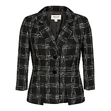Buy Precis Petite Textured Check Jacket, Black Online at johnlewis.com
