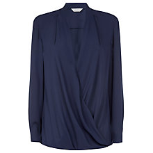 Buy Windsmoor Wrap Blouse, Navy Online at johnlewis.com