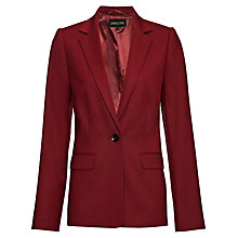 Buy Jaeger Flannel Blazer, Winter Berry Online at johnlewis.com