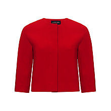 Buy Jaeger Wool Crepe Jacket, Cherry Online at johnlewis.com