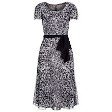 Buy Jacques Vert Soft Spot Prom Dress, Black/White Online at johnlewis.com