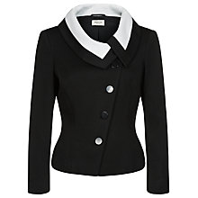 Buy Precis Petite Contrast Asymmetric Jacket, Black Online at johnlewis.com