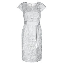 Buy Jacques Vert Sparkle Cornelli Dress, Platinum Online at johnlewis.com