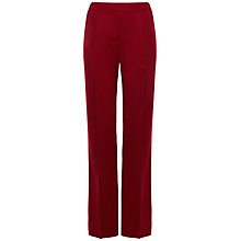 Buy Jaeger Flannel Trousers, Cherry Online at johnlewis.com