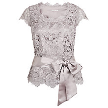 Buy Jacques Vert Luxury Lace Belted Top, Opal Online at johnlewis.com