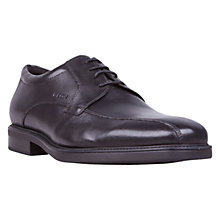 Buy Geox Londra Tramline Leather Lace-Up Shoes, Black Online at johnlewis.com
