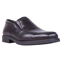 Buy Geox Londra Leather Slip-On Loafers, Black Online at johnlewis.com