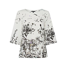 Buy Warehouse Border Stencil Floral Top, Multi Online at johnlewis.com