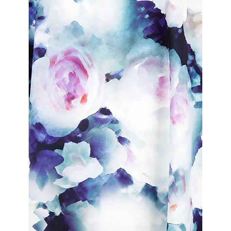 Buy Kaliko Hazy Floral Dress, Blue/Multi Online at johnlewis.com
