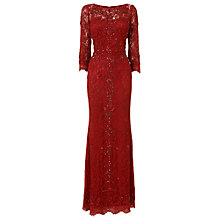 Buy Phase Eight Collection 8 Tahlia Embellished Full Length Dress, Ruby Online at johnlewis.com