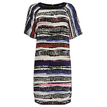 Buy Warehouse Textured Stripe Print Dress, Multi Online at johnlewis.com