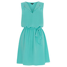 Buy Warehouse Open Neck Skater Dress, Mint Online at johnlewis.com