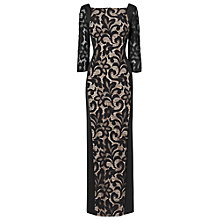 Buy Phase Eight Isobel Lace Illusion Dress, Black Online at johnlewis.com