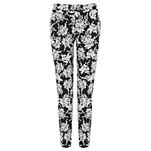 Buy Warehouse Monochrome Floral Trousers, Black Online at johnlewis.com